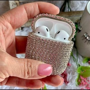 💗Luxury Silver Bling AirPods Case Sparkle Cover!